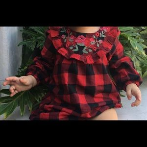 Baby Gap flannel dress with flower detail